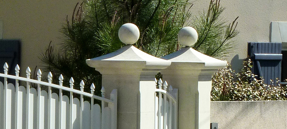 piliers d'entrée