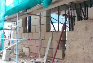 Reprise de mur extérieur